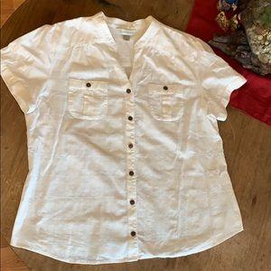 Christopher & Banks button you short sleeve shirt